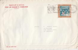 MONACO SEUL SUR LETTRE POUR LA FRANCE 1968 - Covers & Documents