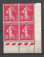 Coins Daté France Neuf *  N 278b    Année 1935 Charniére En Haut - 1930-1939