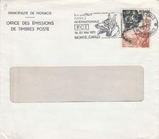MONACO SEUL SUR LETTRE POUR LA FRANCE 1973 - Covers & Documents