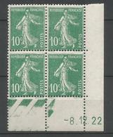 Coins Daté France Neuf *  N 159   Année 1922  Charniére En Haut - ....-1929