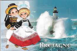 Fantaisies - Carte Brodée - BRETAGNE - Cpm - Vierge - Éditeur /// JACK - F110 - - Borduurwerk