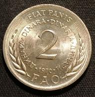 YOUGOSLAVIE - YUGOSLAVIA - 2 DINARA 1970 - FAO - KM 55 - Yugoslavia