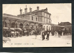 CPA - GRENOBLE - La Gare, Animé - Attelages - Grenoble