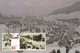Switzerland 2021 - 150 Years Internment Of Bourbaki's Army Maximum Card - Nuevos