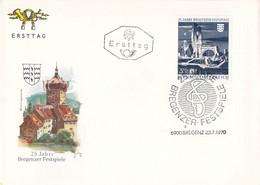 Austria FDC 1970 25 Jahre Bregenzer Festspiele (G119-73) - FDC