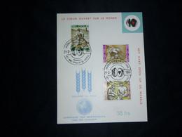 """BELG.1963 1243/45 Sur Carte """"Le Coeur Ouvert Sur Le Monde /FAO - Bestrijding Van De Honger """" - 1961-70"""