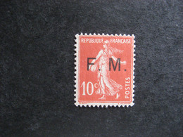 A). TB  F.M. N° 5, Neuf XX . - Franchise Stamps