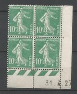 Coins Daté France Neuf *  N 159   Année 1927  Charnière En Haut - ....-1929