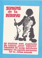 """LUTTE DU LARZAC """" SORTONS DE LA RESERVE """" AFFICHE MILLAU - Altri Comuni"""