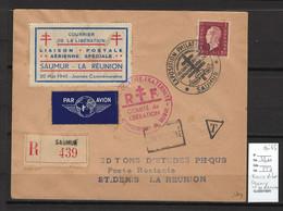 Reunion - Courrier De La Libération - Saumur - La Réunion - Mai 1945 - Airmail