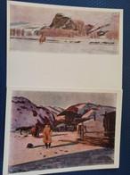 "2 PCs Lot  Mongolia,  Stroganov ""North Tamir"" 1965 - Mongolia"