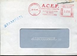 64619 Italia, Red Meter Freistempel, Ema, 1981 Fiorenzuola, A.c.e.f. Azienda Chimica E Farmaceutica - Marcofilie - EMA (Print Machine)