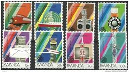 Rwanda Ruanda 1984 OBCn° 1194-1201 *** MNH  Cote 7,00 Euro - 1980-89: Mint/hinged