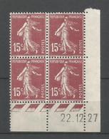 Coins Daté France Neuf *  N 189   Année 1927  Charnière En Haut - ....-1929