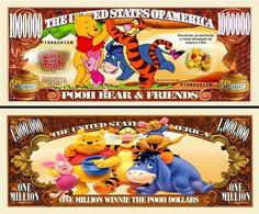 USA 1 Million Dollar Banknote 'Winnie The Pooh' (Disney) - NEW - UNC & CRISP - Other - America