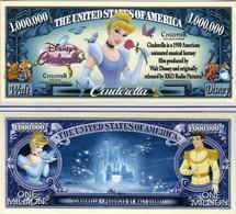 USA 1 Million Dollar Novelty Banknote 'Cinderella' (Disney) - NEW - UNC & CRISP - Other - America