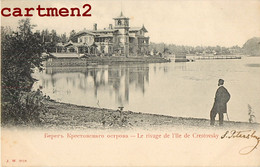 SAINT-PETERSBOURG LE RIVAGE DE L'ILE DE CRESTOVSKY PETERHOF ST-PETERSBURG RUSSIE RUSSIA PETERBOURG 1900 - Rusland