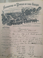 """FACTURE """"G.THIRIET"""" DE RAUCOURT ARDENNES - Manufacture De Boucles - 1900 – 1949"""
