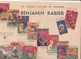 4 Pages Publicitaires Benjamin RABIER ALBUMS ILLUSTRES Réalisés à Cette Date P  D'IVOI Publicité De Décembre 1935 - Unclassified