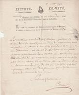 1794 Noms Révol. BERGUES-SUR-COLME (cy-devant BERGUES-St-VINOC) - DUNE-LIBRE (cy-devant DUNKERQUE) - Documenti Storici