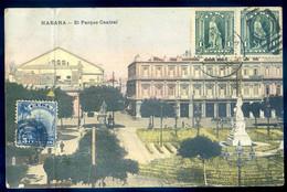 Cpa De Cuba Habana -- El Parque Central -- La Havane -- Cachet Chine Shanghai Tangku  AVR21-25 - Kuba