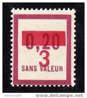 FRANCE FICTIF N°  F63 ** Timbre Neuf Gomme D'origine Sans Trace De Charnière - TB - Phantomausgaben