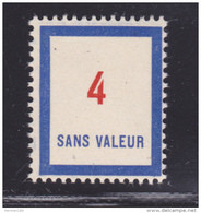 FRANCE FICTIF N°  F81 ** MNH Neuf Sans Charnière, TB - Phantomausgaben