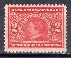 1909 2 Cents Alaska-Yukon Mint Hinged - Unused Stamps