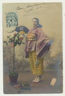 Carte Fantaisie -femme Asiatique En Kimono Et éventail - Geisha - - Women