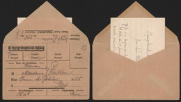 Germany 1918 - WWI Kriegsgefangenensendung / Prisoners Of War Cover + Content To Paris France - Censor. - Storia Postale