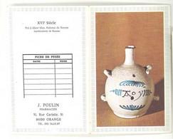 Petit Calendrier 1977 J. Poulin , Pharmacien, Orange ( Vaucluse ) - Klein Formaat: 1971-80