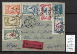 France - MONTPELLIER AVIATION - 02/09/1923 - Avec Vignettes - Air Post