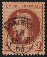 France N°26A, Oblitéré Càd LORIENT Morbihan, Lauré 2c Rouge-brun - SUPERBE - 1863-1870 Napoleone III Con Gli Allori