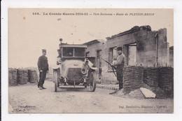 CP MILITARIA Vers Soissons Route De Plessis Brion - Guerra 1914-18