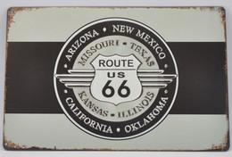 USA Metal (tin) Wallplate ROUTE 66 (retro Style) - Special US Edition - New - Plaques En Tôle (après 1960)