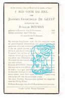 DP Joannes Fr. De Geest ° Kemzeke Stekene 1858 † 1940 X Rosalie Hofman - Devotion Images