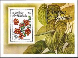 Antigua & Barbuda 1984 - Mi Bl 76 - YT BF 76 ( Flowers : Crown Of Thorns ) MNH** - Antigua And Barbuda (1981-...)