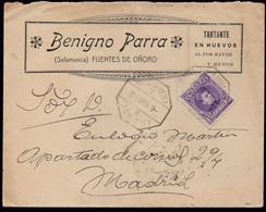 "España - Edi O 246 - Mat Ambulante ""Amb Asc II - 2 - F De Oñoro - Medina"" - Carta Con Publicidad A Madrid - Cartas"