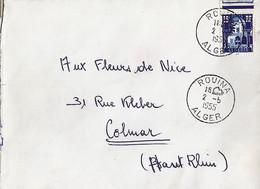 ALGERIE N° 314 SUR LETTRE DE ROUINA / ALGER / 2.5.5 POUR LA FRANCE - Brieven En Documenten