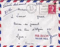 ALGERIE N° 329 SUR LETTRE DE BATNA / CONSTANTINE / 11.5.57   POUR LA FRANCE - Brieven En Documenten