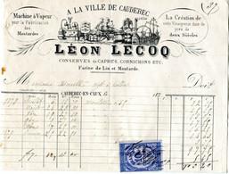 Caudebec En Caux(76); Facture  A La Ville De Caudebec, Léon Lecoq, 187919,5 Cm X - 1800 – 1899