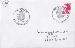 974 - REUNION - ST DENIS RP - TAD De Type ILL. GRAND MODELE De 1983 - Manual Postmarks