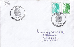 974 - REUNION - ST DENIS RP - TAD De Type ILL. PETIT MODELE De 1987 - Manual Postmarks