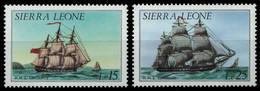 Sierra Leone 1985 - Mi-Nr. 864-865 ** - MNH - Schiffe / Ships - Sierra Leone (1961-...)