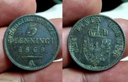GERMAN STATES - PRUSSIA 3 PFENNINGE 1869 A Km#460 (CX#01-963) - Sonstige