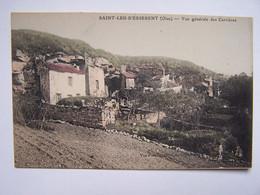 SAINT-LEU-D'ESSERENT  Carte Postale Ancienne , Vue Générale Des Carrières - Creil