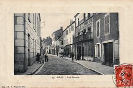 GRAY (Haute-Saône) - Rue Vanoise - Edition A. Bergeret, N° 17. Circulée En 1910. Bon état. - Gray