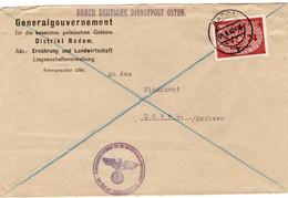 Brief Deutsches Reich Generalgouvernement Deutsch Dienstpost Osten 04.09.1940 Nach Löbau - Zonder Classificatie