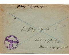 Brief Deutsches Reich Postschutzkommando Warschau Postsache Osten - Brieven En Documenten