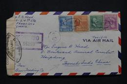 ETATS UNIS - Enveloppe En Recommandé De San Francisco Pour Haiphong ( Indochine ) En 1940 Avec Contrôle Postal - L 98871 - Covers & Documents